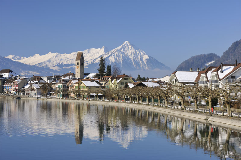 A winter's view of Interlaken